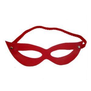 Máscara Couro Sintético Tiazinha Vermelha-SM-329V