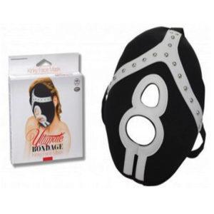 Máscara Ultimate Bondage Kinky Face Mask com abertura boca e nariz-N0021