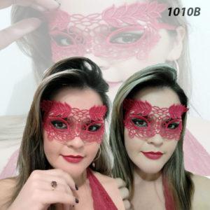 Mascara Sensual com Tiras Para Amarrar Vermelha- 1010B