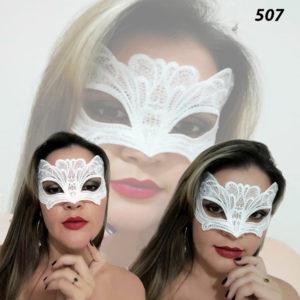 Mascara Sensual com Tiras Para Amarrar Branca-507