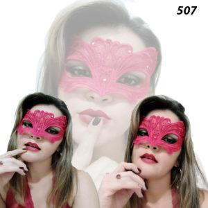 Mascara Sensual com Tiras Para Amarrar Vermelha-507