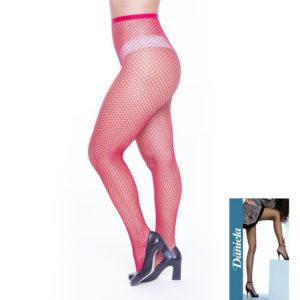 Meia Calça Arrastão Trabalhada Fio 70 Daniela Vermelha 118