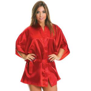 Robe Sensual em Cetim Vermelha 5013