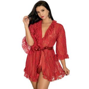 Robe Sensual em Renda Vermelha 5014