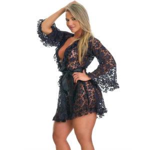 Robe Sensual em Renda Preto 5014