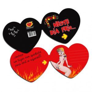 Cartão Formato Coração Neste Dia Frio