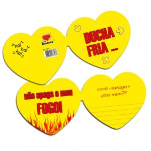 Cartão Formato Coração Ducha Fria