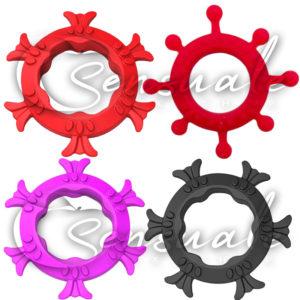 Anel Peniano em Silicone Diversos Modelos e Cores Variadas CK009