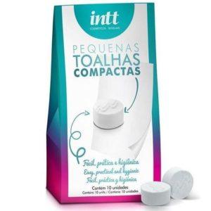 Toalhas Higienizadoras Compactas Com 10 Unidades Intt