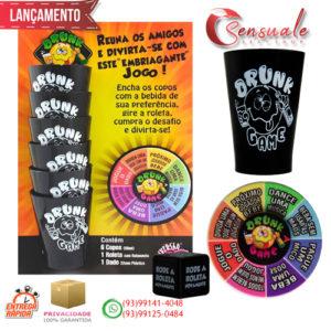 Drunk Game Jogo Roleta Com 06 Copos Diversão Ao Cubo DG-01