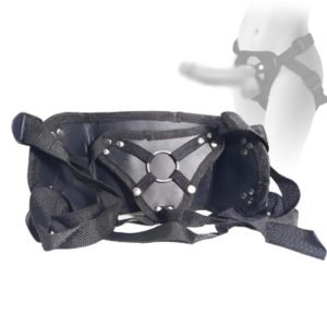 Cinto Ajustável Reforçado em Couro e Nylon BDSM 057
